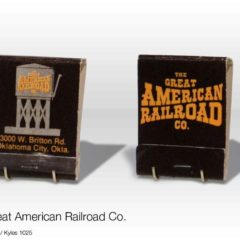 (KYLE.2010.03.15) - The Great American Railroad Co Restaurant Matchbook, 3000 W. Britton Rd.